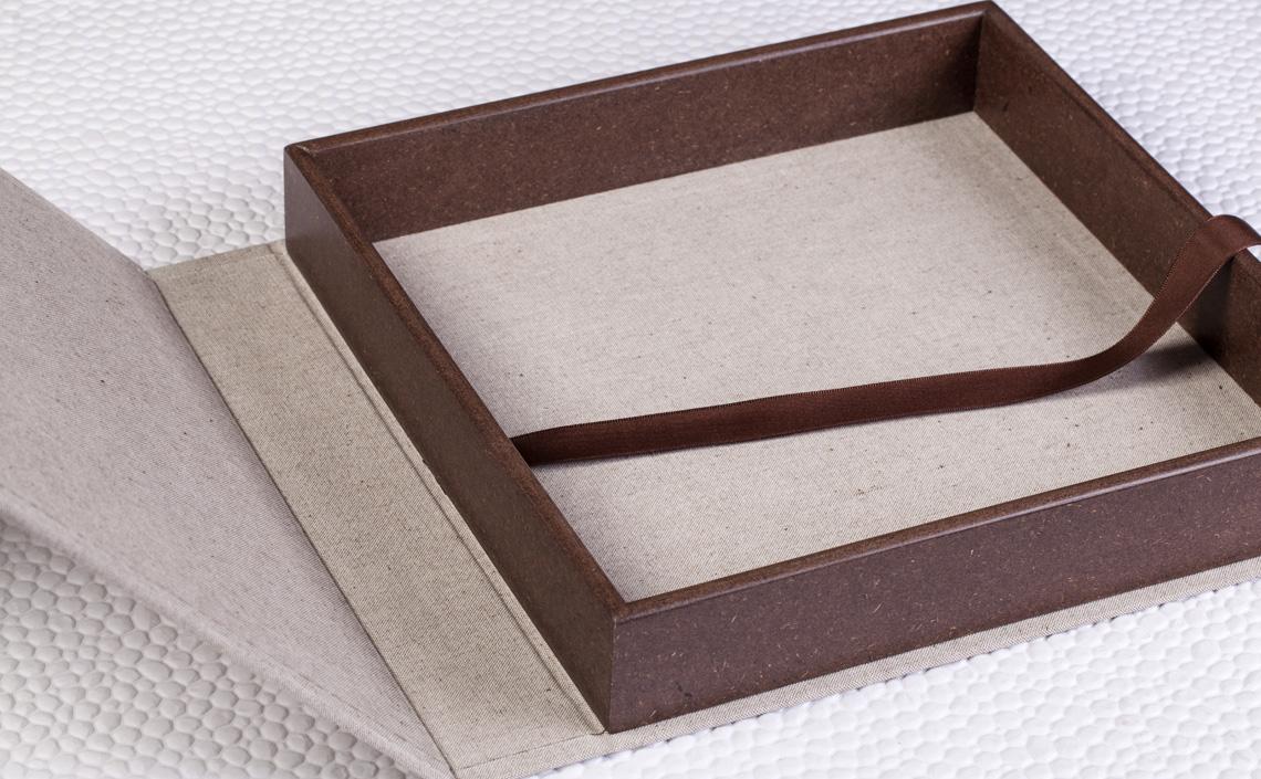 Fotolab Box Chocolate em Algodão Eco Caqui