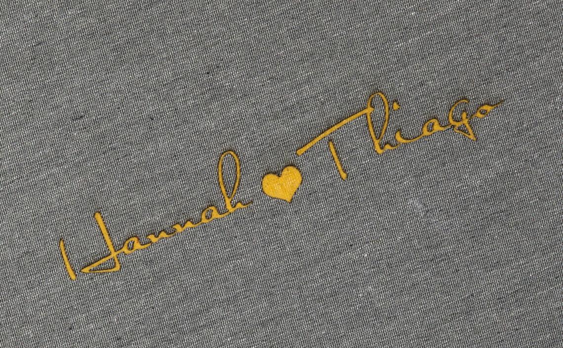 Detalhe LetterPress Amarelo